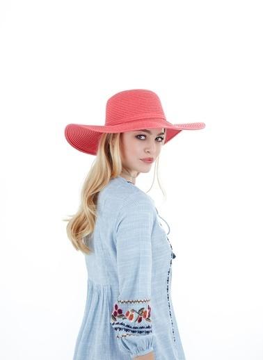 Laslusa İçten Ayarlanabilir Hasır Geniş Kenar Şapka Oranj